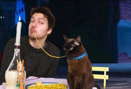 GENIAL: Dieser Mann stellt ikonische Filmszenen mit seiner Katze nach
